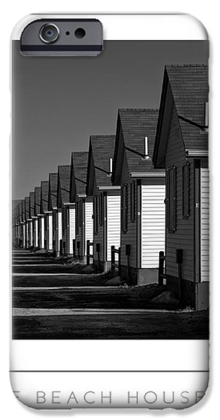 Concept Art iPhone Cases - The Beach Houses 2 iPhone Case by Mike Nellums