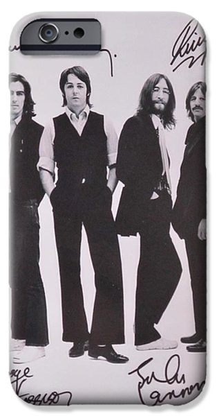 Recently Sold -  - Autographed iPhone Cases - The Beatles iPhone Case by Donna Wilson