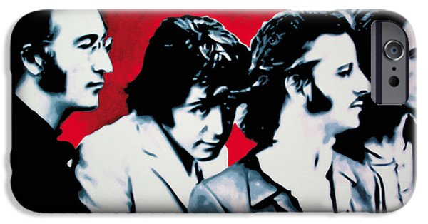 Ludzska iPhone Cases - The Beatles iPhone Case by Luis Ludzska