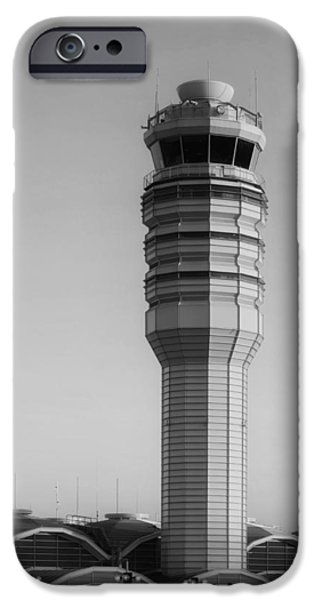 Traffic Control iPhone Cases - The Control Tower at Ronald Reagan National Airport iPhone Case by Mountain Dreams