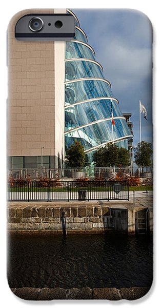 Enterprise Photographs iPhone Cases - The Convention Centre Dublin , Dublin iPhone Case by Panoramic Images