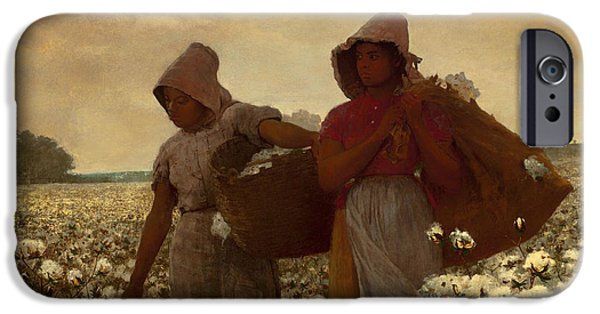 Concept Paintings iPhone Cases - The Cotton Pickers iPhone Case by Winslow Homer
