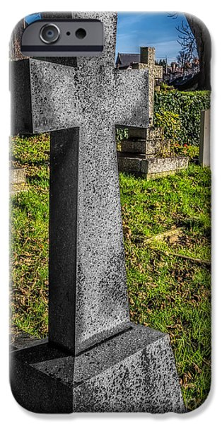 Cemetary iPhone Cases - The Cross iPhone Case by Adrian Evans