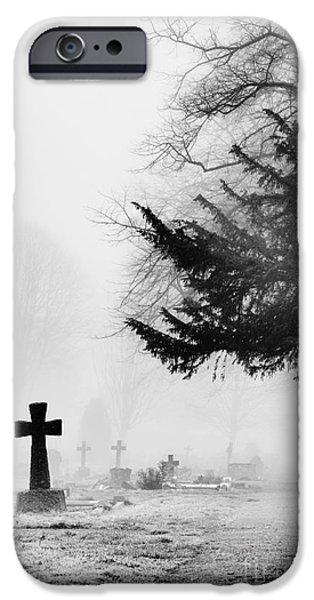 Grave iPhone Cases - The Cross iPhone Case by Tim Gainey