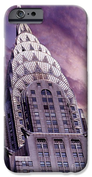 Buildings Mixed Media iPhone Cases - The Crysler Building iPhone Case by Jon Neidert