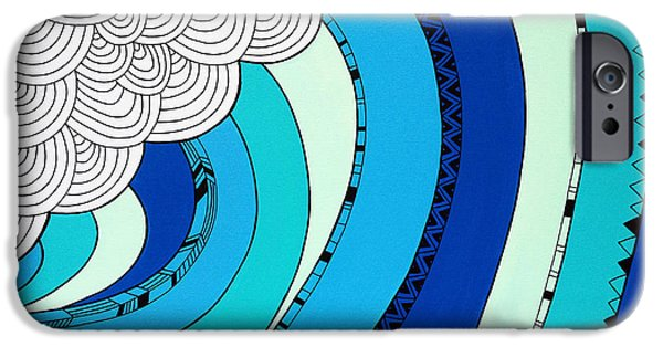 Graphic Design iPhone Cases - The Curl iPhone Case by Susan Claire