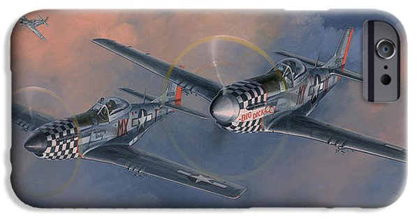 P-51 Mustang iPhone Cases - The Duxford Boys iPhone Case by Wade Meyers