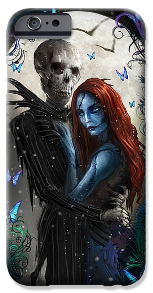 Digital iPhone Cases - The Embrace V2 iPhone Case by Alex Ruiz