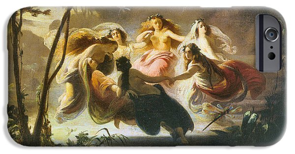 Fay iPhone Cases - The Fairy Dance iPhone Case by Robert Alexander Hillingford