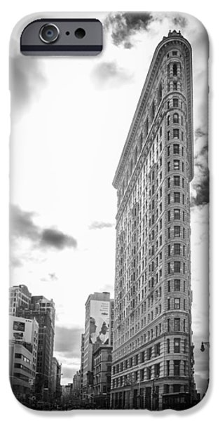 Recently Sold -  - Wintertime iPhone Cases - The Famous Flatiron Building - New York City iPhone Case by Erin Cadigan