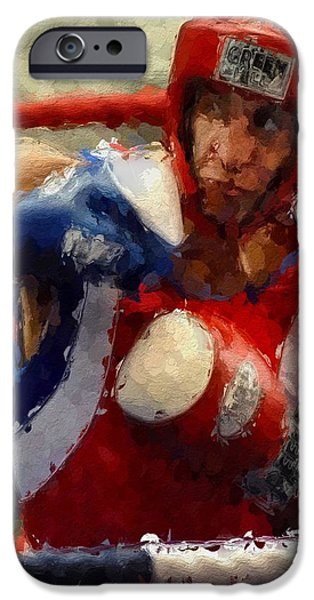 Boxer iPhone Cases - The Fighter iPhone Case by Stefan Kuhn