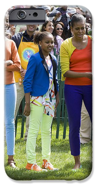 The First Lady and Daughters iPhone Case by JP Tripp