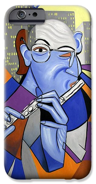 The Flutist iPhone Case by Anthony Falbo