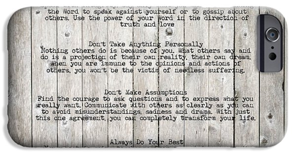Thinking iPhone Cases - The Four Agreements iPhone Case by Andrea Anderegg