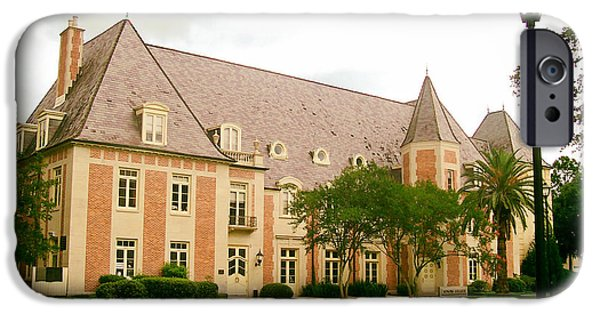 Louisiana State University Photographs iPhone Cases - The French House on the Campus of LSU iPhone Case by Mountain Dreams