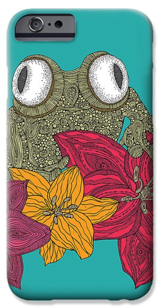 Amphibian iPhone Cases - The Frog iPhone Case by Valentina Ramos