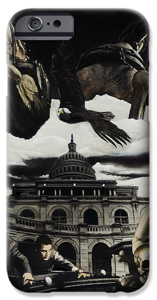 Us Capital Mixed Media iPhone Cases - The Ghosts of Capitol Hill iPhone Case by Ken Howard