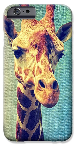 Giraffe Abstract iPhone Cases - The Giraffe iPhone Case by Angela Doelling AD DESIGN Photo and PhotoArt