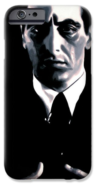 Big Screen iPhone Cases - The Godfather iPhone Case by Luis Ludzska