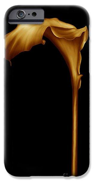 Zeana Romanovna iPhone Cases - The Golden Calla Lilly iPhone Case by Georgiana Romanovna