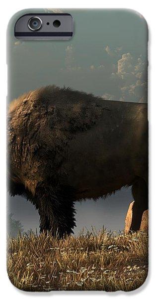 The Great American Bison iPhone Case by Daniel Eskridge