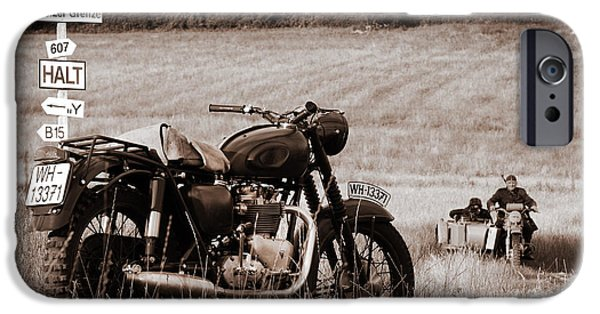 Steve Mcqueen iPhone Cases - The Great Escape Motorcycle iPhone Case by Mark Rogan