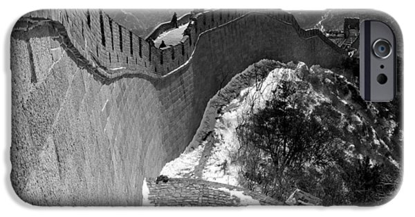 Brick iPhone Cases - The Great Wall of China iPhone Case by Sebastian Musial