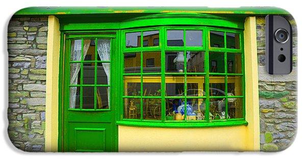 Facade iPhone Cases - The Green Door iPhone Case by Jim Zuckerman