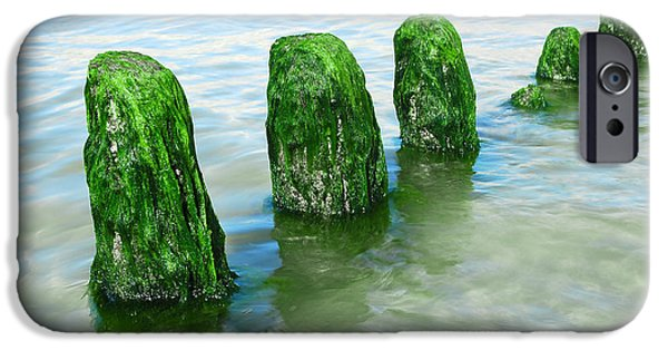 Beatles iPhone Cases - The Green Jetty iPhone Case by Hannes Cmarits