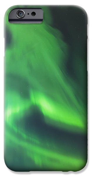 The Green Northern Lights Corona iPhone Case by Kevin Smith