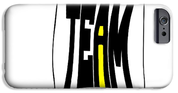 Ego iPhone Cases - The i in Team iPhone Case by Steve Harrington