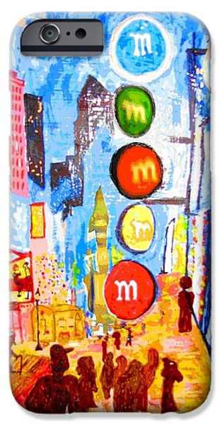 Michelle Mixed Media iPhone Cases - The Inspired Colors iPhone Case by Michelle Reid