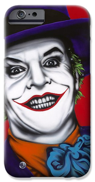 The Joker iPhone Case by Alicia Hayes