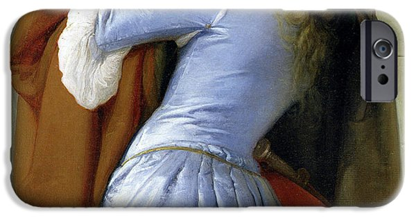 Relationship Paintings iPhone Cases - The Kiss iPhone Case by Francesco Hayez