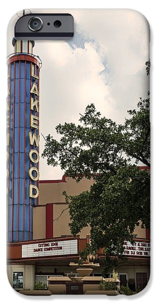 Historical Pictures iPhone Cases - The Lakewood Theatre of Dallas iPhone Case by Mountain Dreams