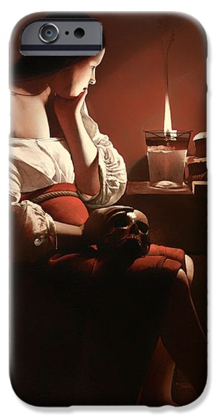 Reform iPhone Cases - The Magdalen with the Smoking Flame iPhone Case by Georges de La Tour