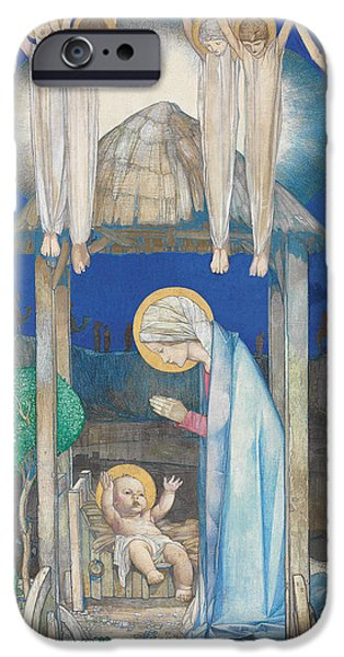 Jesus Drawings iPhone Cases - The Nativity iPhone Case by Edward Reginald Frampton