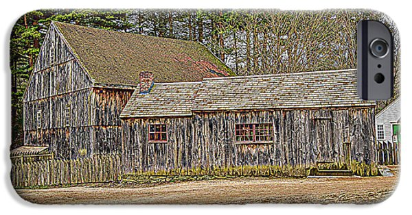 Historic Site Mixed Media iPhone Cases - The Old Homestead iPhone Case by Douglas Miller
