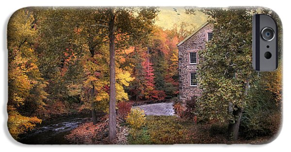 Autumn iPhone Cases - The Old Stone Mill iPhone Case by Jessica Jenney