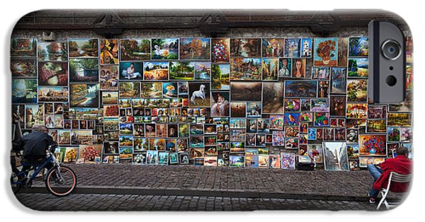 Enterprise Photographs iPhone Cases - The Open Air Art Gallery iPhone Case by Panoramic Images
