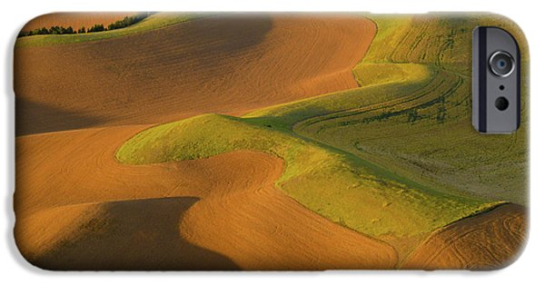 Contour Farming iPhone Cases - The Palouse from Above iPhone Case by Latah Trail Foundation