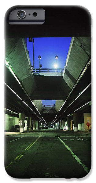 Asphalt iPhone Cases - The Parking Garage iPhone Case by Sam Ciurdar