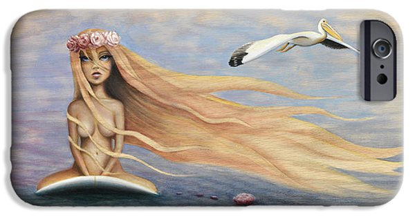 Recently Sold -  - Sea Birds iPhone Cases - The Princess and the Pelican iPhone Case by Kelly Meagher
