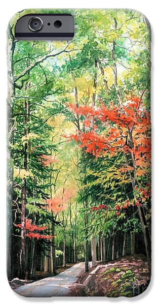 Change Paintings iPhone Cases - The Promise of Change iPhone Case by Barbara Jewell