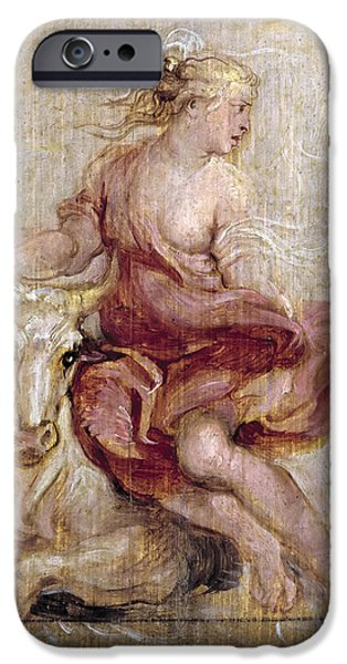 Europa Paintings iPhone Cases - The Rape of Europa iPhone Case by Peter Paul Rubens