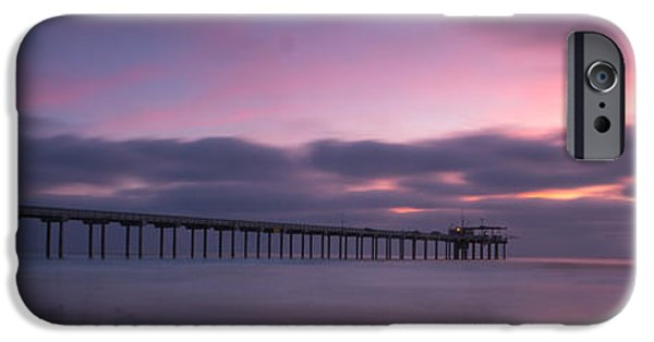 La Jolla Surfers iPhone Cases - The Scripps Pier iPhone Case by Peter Tellone