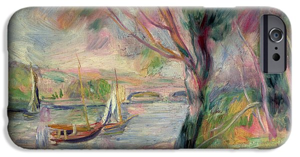 Renoir iPhone Cases - The Seine at Argenteuil iPhone Case by Pierre Auguste Renoir