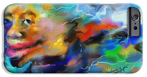 Business Paintings iPhone Cases - The Smirk iPhone Case by Vandana Devendra