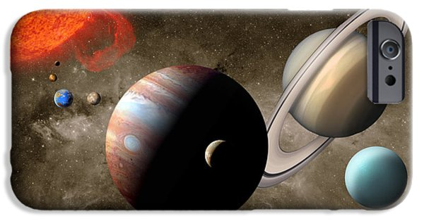 Animation iPhone Cases - The Solar System iPhone Case by Mike Agliolo