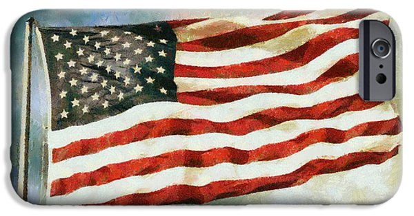 Old Glory Digital iPhone Cases - The Stars and Stripes iPhone Case by Nishanth Gopinathan
